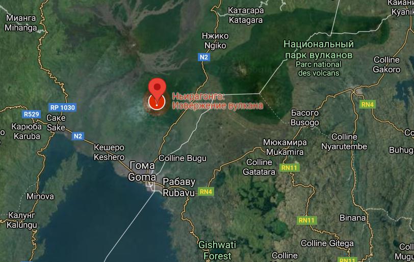 В Африке началось извержение большого вулкана: крупный город охватила паника – фото, видео