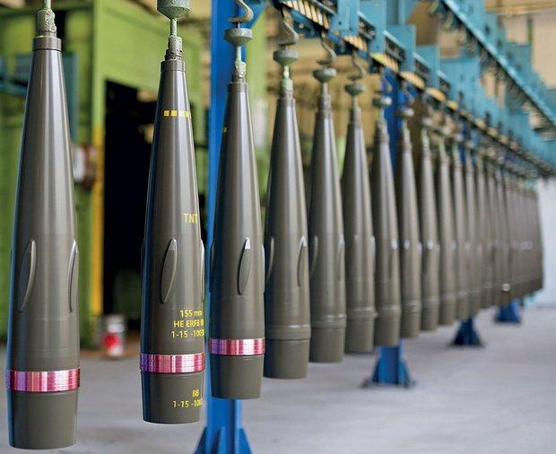 155 мм снаряды (фото — Укроборонпром)