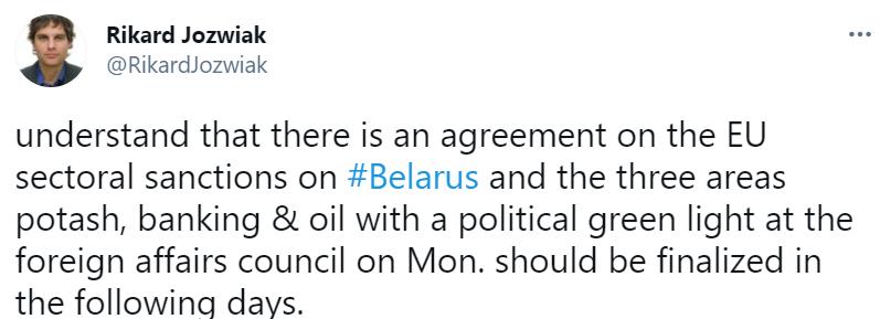 В ЕС согласовали секторальные санкции против Беларуси – журналист Радио Свобода