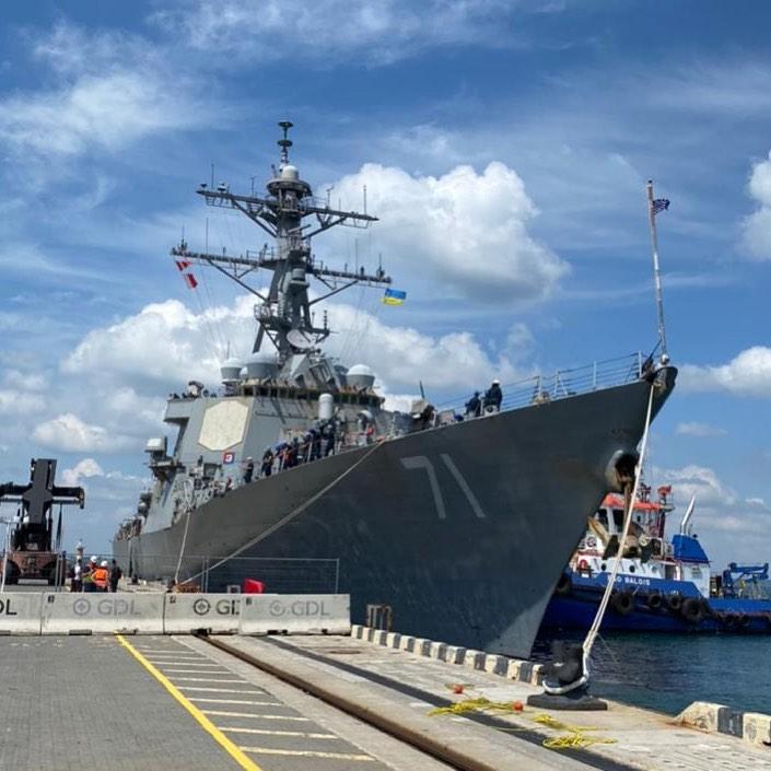 Американский эсминец USSRoss прибыл в Одессу (фото – facebook.com:SeaBreezeexercise)