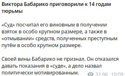 Конкуренту Лукашенка на виборах дали 14 років в'язниці