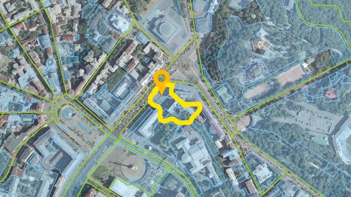 Земельные участки, на которых начнет стройки Грааль, фото: скриншот LIGA.net / Кадастровая карта Украины