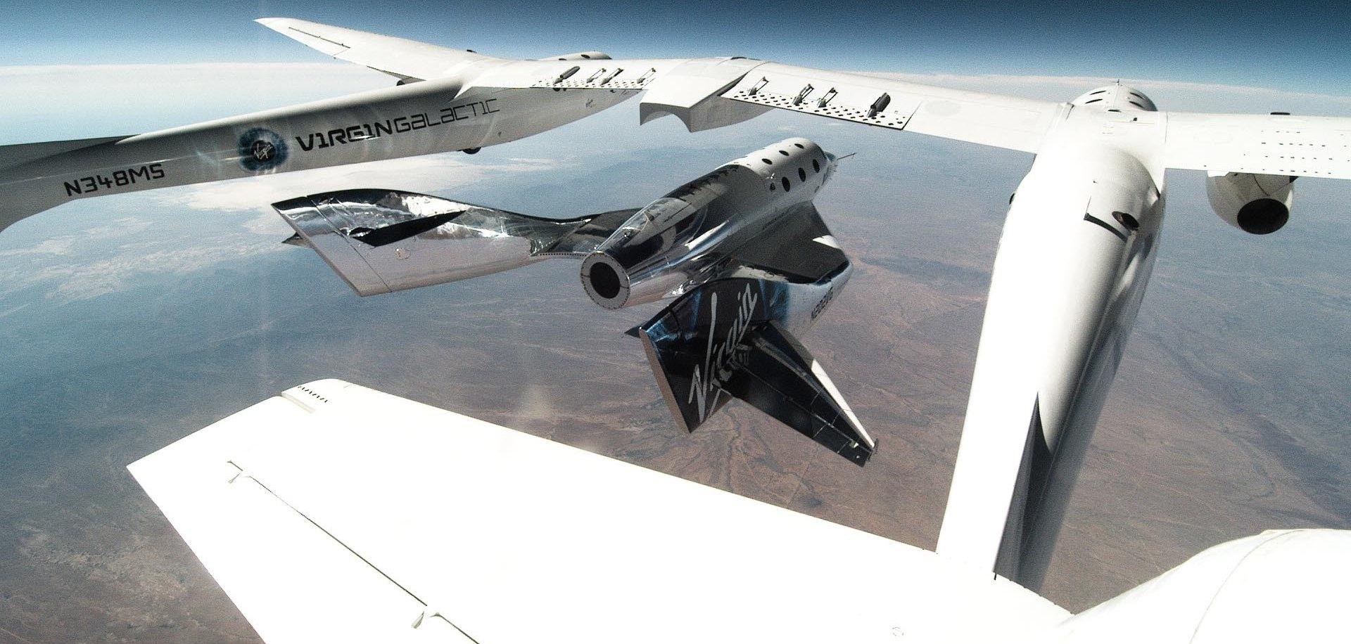 Скидання ракетоплана з-під літака-разгощіка (натисніть на фото, щоб збільшити його)