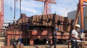 В Минобороны показали, как идет строительство корвета для Украины в Турции – фото