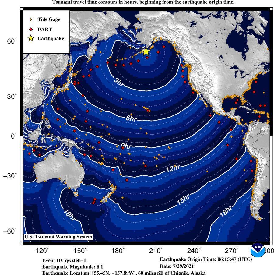 Мощное землетрясение произошло у берегов Аляски, есть угроза цунами – карта