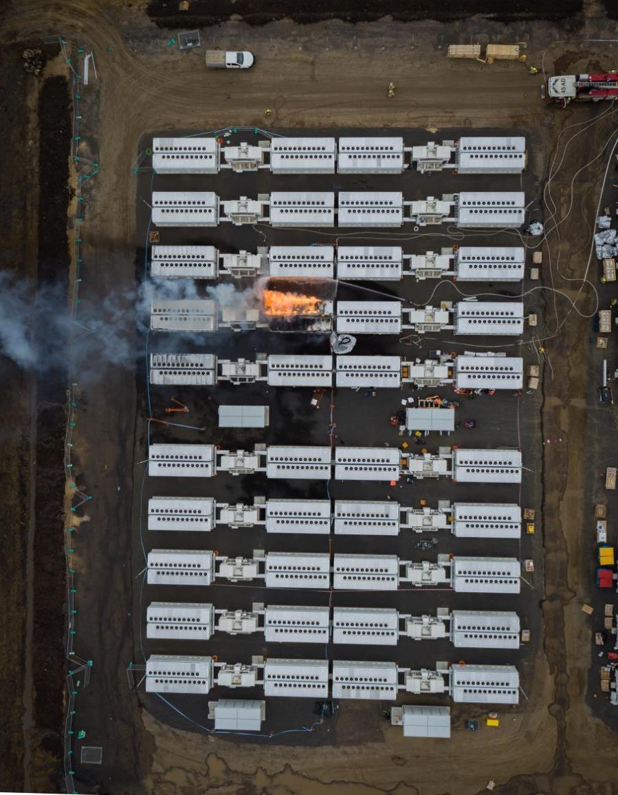 В Австралии четыре дня горела гигантская батарея Tesla: фото