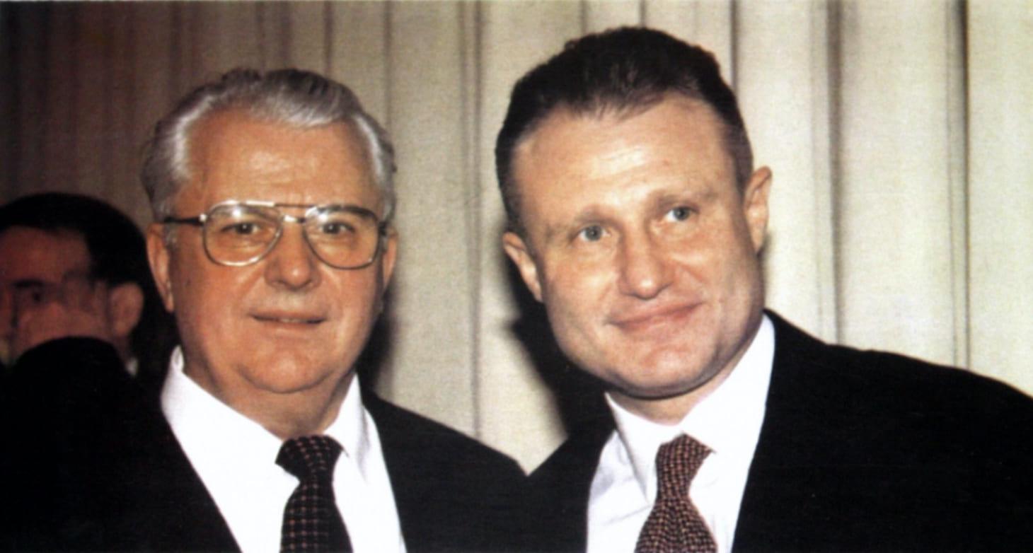 Леонид Кравчук и Григорий Суркис (фото из личного архива Кравчука)