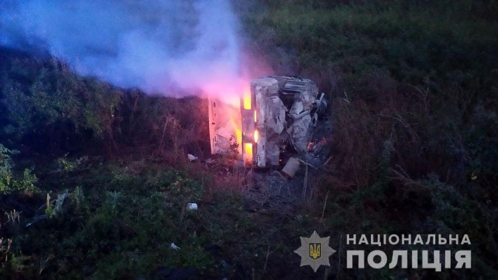 ДТП в Запорожской области: в авто сгорели пять человек, трое из них – дети