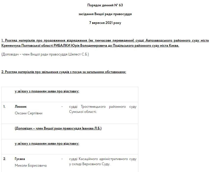 Судья Верховного суда Николай Гусак подал в отставку