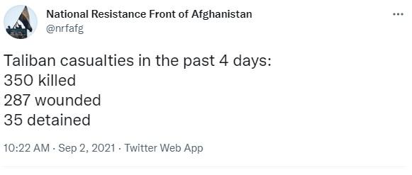 """Бои в Панджшере: Силы Масуда """"убили 350 талибов"""", боевики говорят: заняли 11 КПП"""