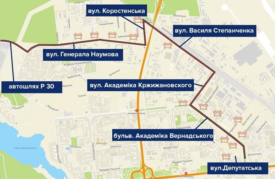 В центре Киева перекроют движение из-за забега: список улиц и карта