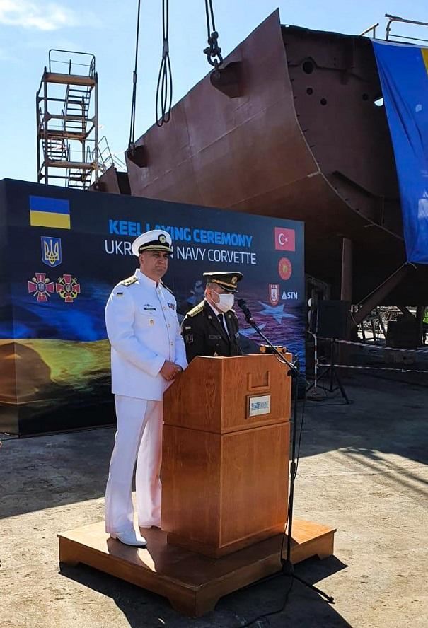 В Турции прошла церемония закладки корвета Ada для ВМС Украины – фото, видео
