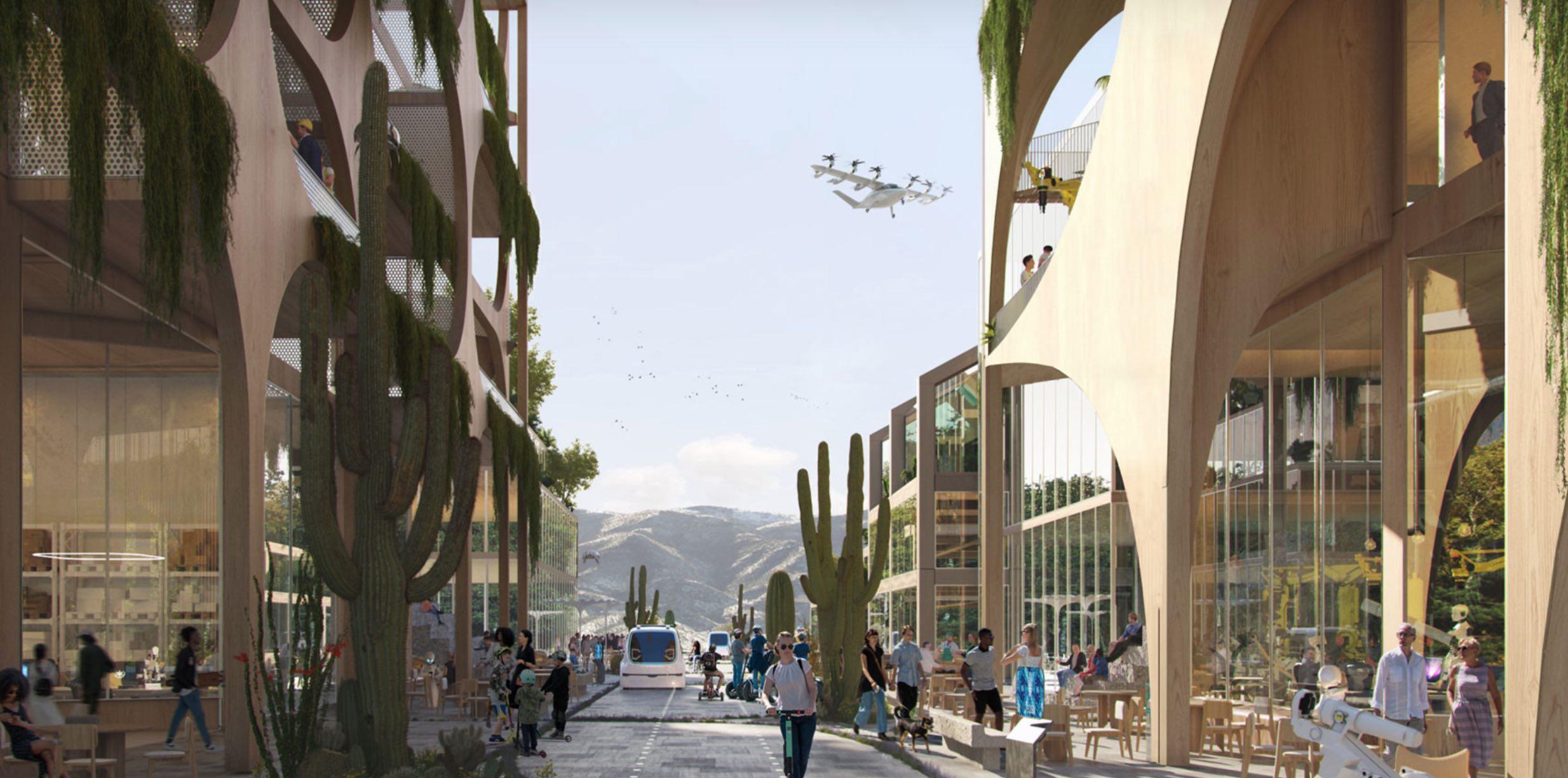 В американской пустыне хотят построить экологический город будущего за $400 млрд: фото