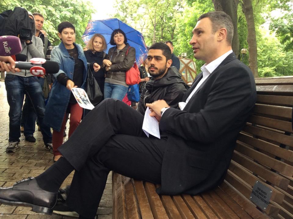Гео Лерос и Виталий Кличко в 2015-м (фото – facebook/merkieva)