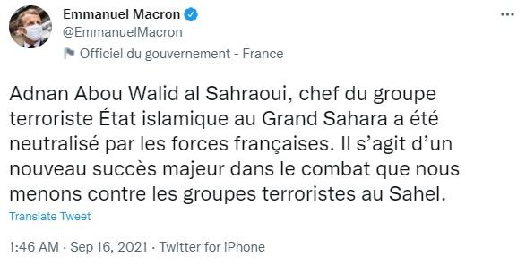 Французские войска убили лидера Исламского государства в Большой Сахаре – Макрон
