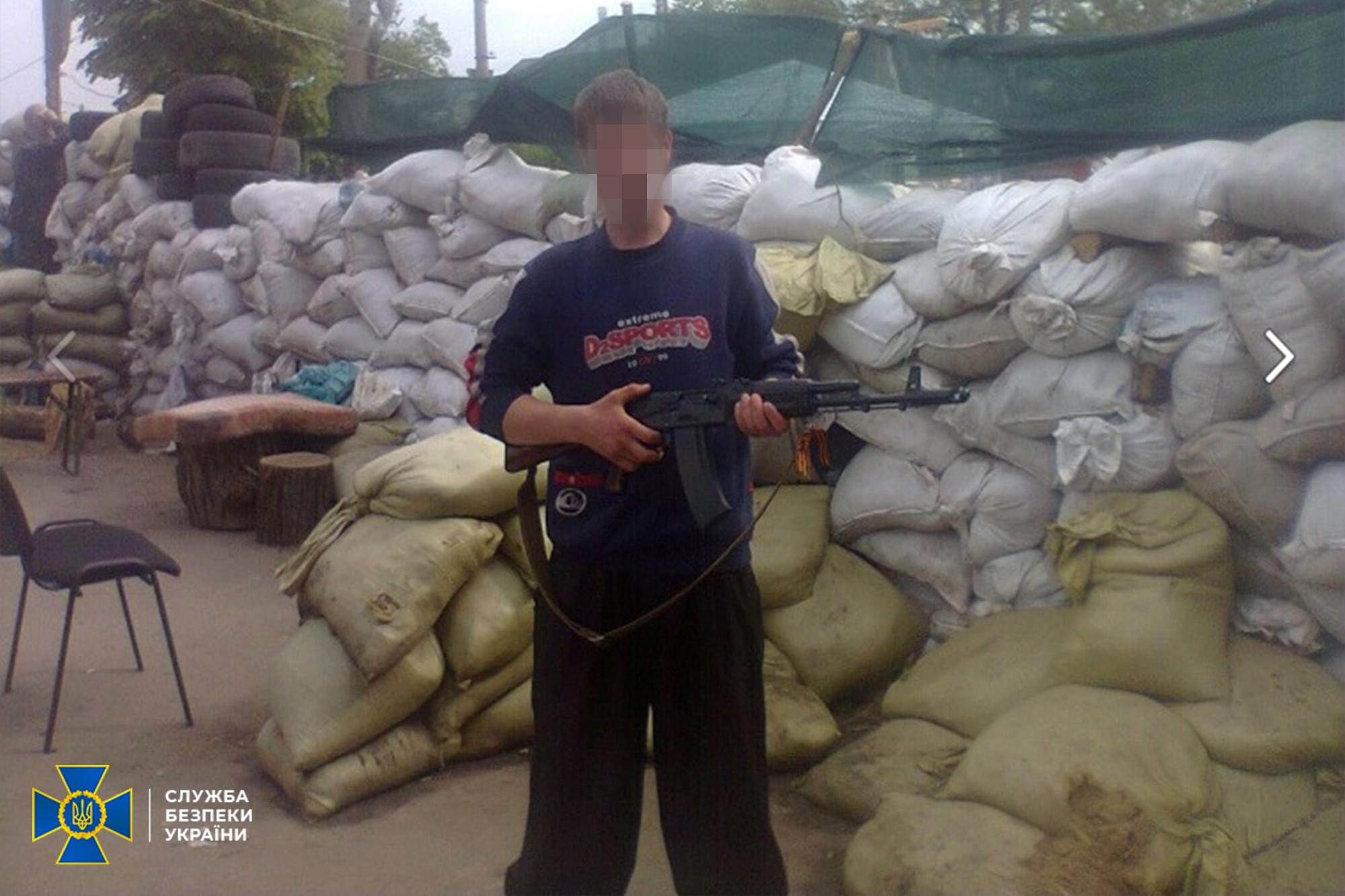 СБУ задержала пророссийского боевика (Фото: пресс-служба СБУ)