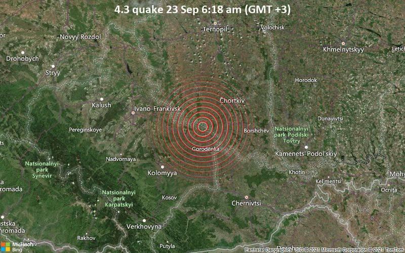 В Тернопольской области произошло землетрясение. Люди могли его почувствовать – карта
