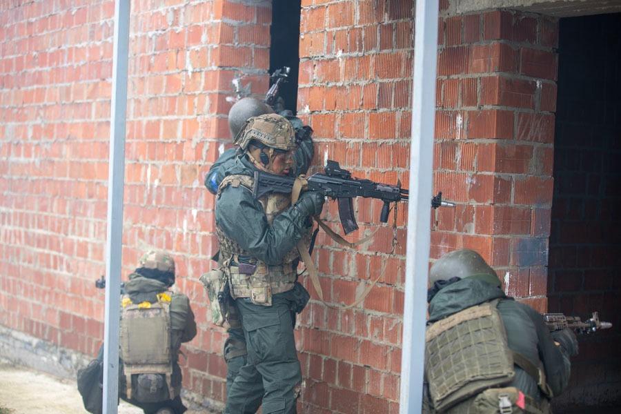 Нацгвардия отработала бой в городе во время учений Rapid Trident 2021: фото, видео