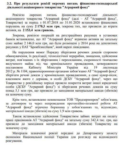 Аудиторы оценили финансовые потери в Аграрном фонде в 2 млрд грн – Марлин