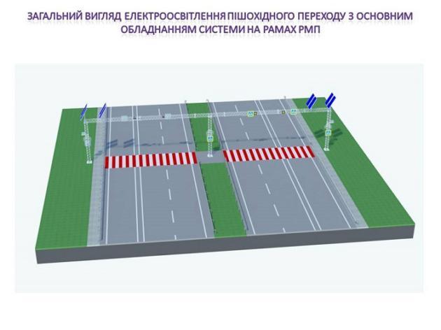 На трассе Киев-Чоп установят освещение на солнечных батареях
