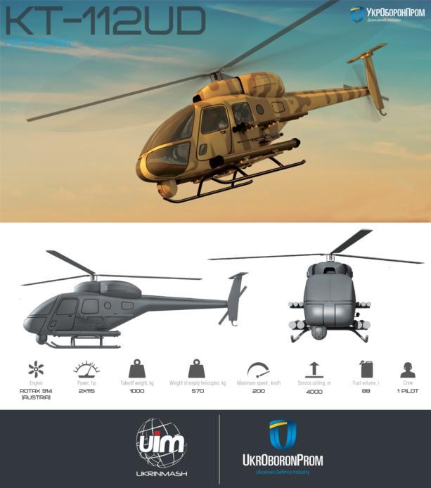 Украина показала концепт боевого вертолета в ОАЭ: инфографика