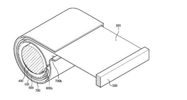 Samsung запатентовал смартфон-раскладушку и телевизор-рулон