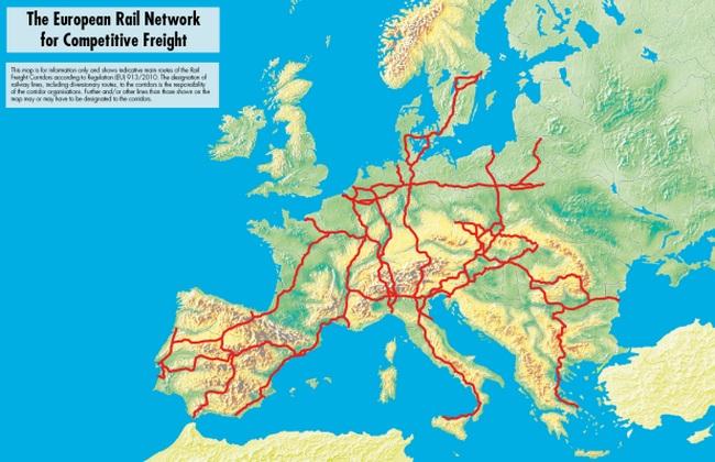В ЕС создана единая сеть грузовых ж/д коридоров: карта