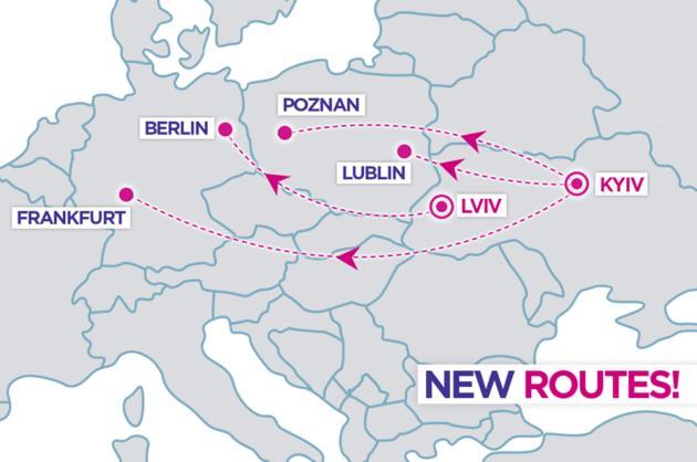 Wizz Air запускает 4 рейса из Киева и Львова в Германию и Польшу
