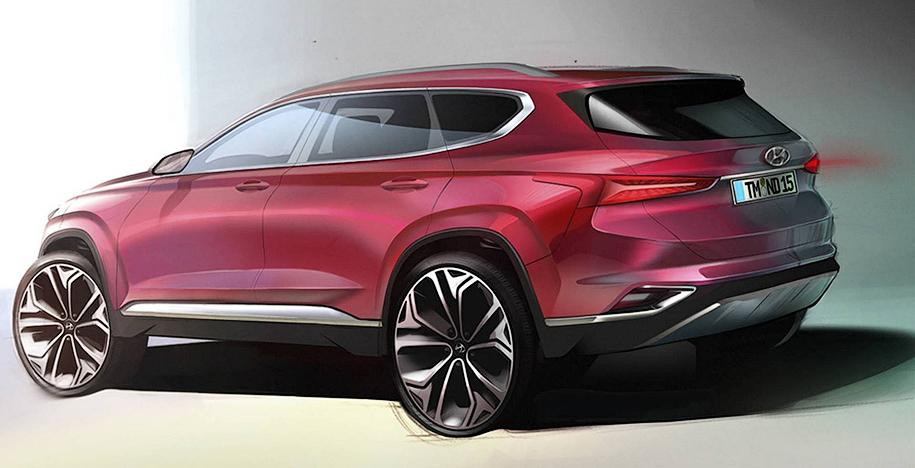 Hyundai показала Santa Fe нового поколения
