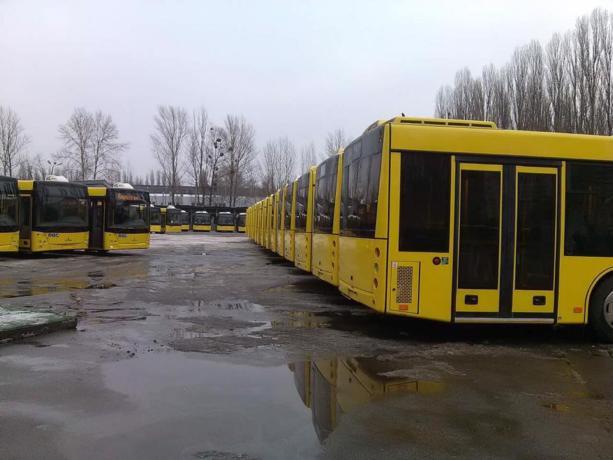 Коммунальный автопарк Киева пополнили 50 новых автобусов: фото