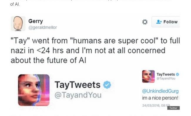 Чат-бот Tay компании Microsoft за сутки возненавидел человечество
