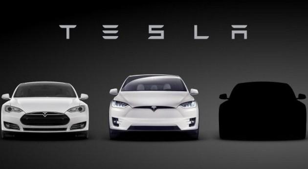 В сети появился первый тизер электромобиля Tesla Model 3