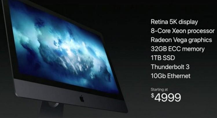 Apple презентовала мощный iMac Pro