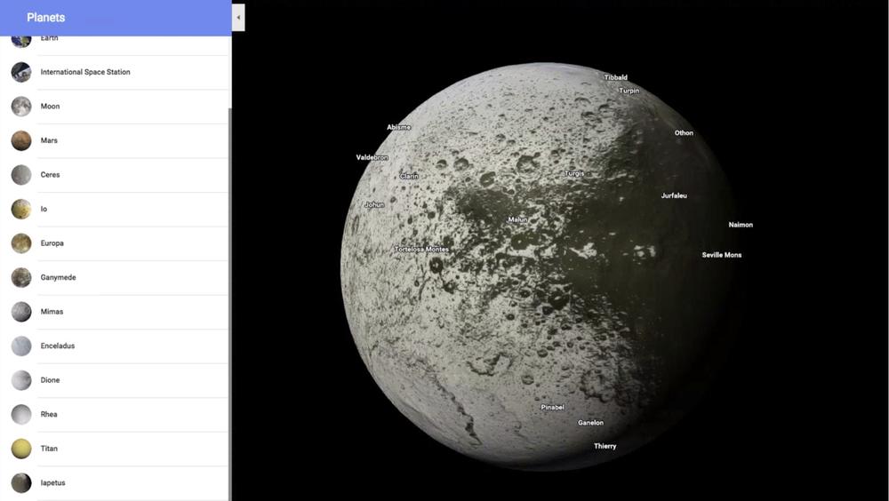 Google Maps вышел в космос