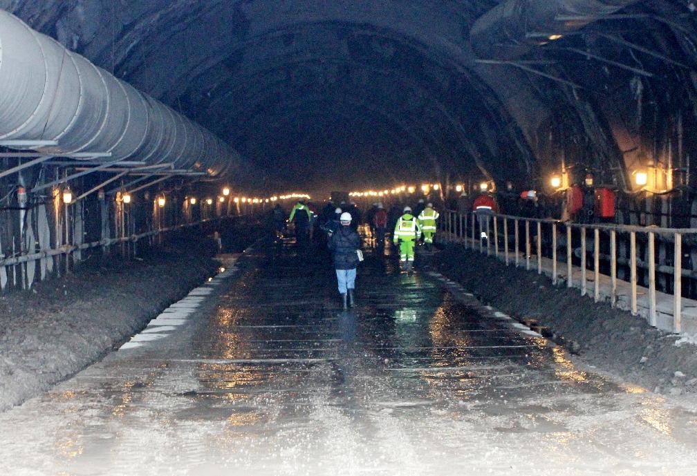 Окно в Европу.  Репортаж со строительства  Бескидского тоннеля