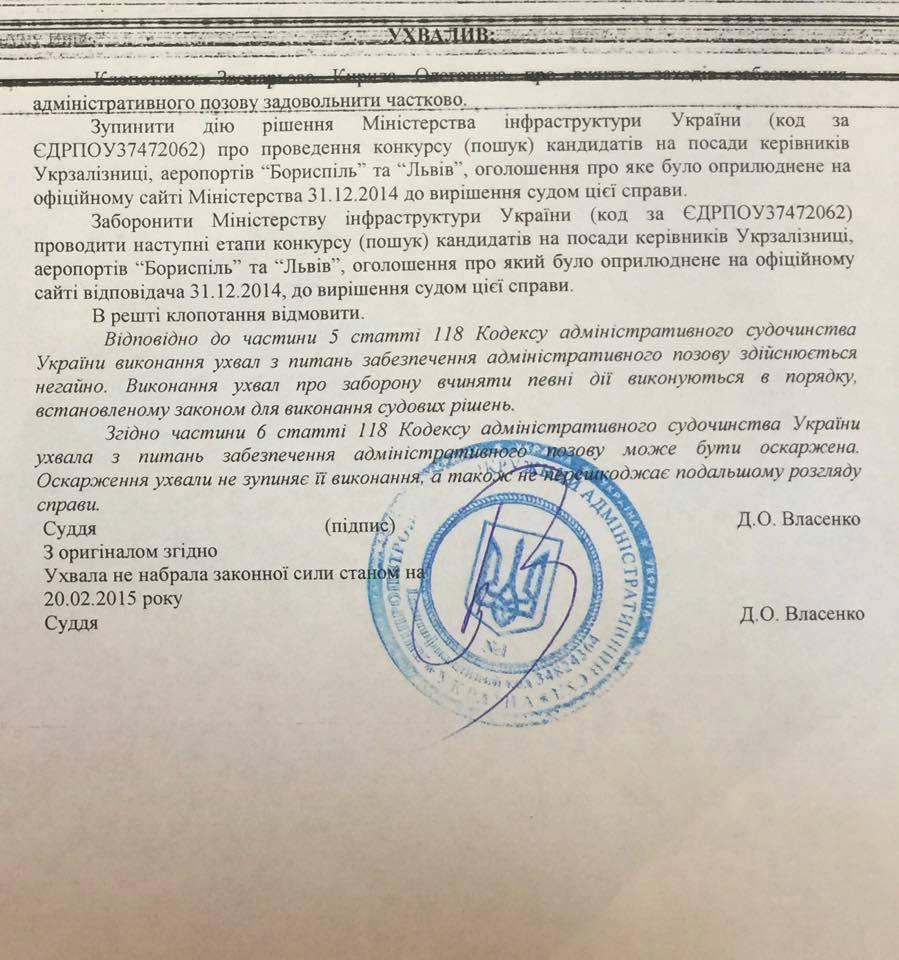 Экс-менеджер Коломойского сорвал конкурс на главу УЗ и Борисполя
