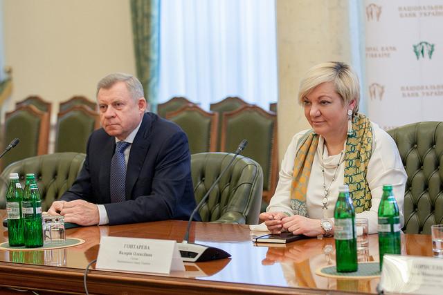 Яков Смолий и Валерия Гонтарева, Фото: НБУ