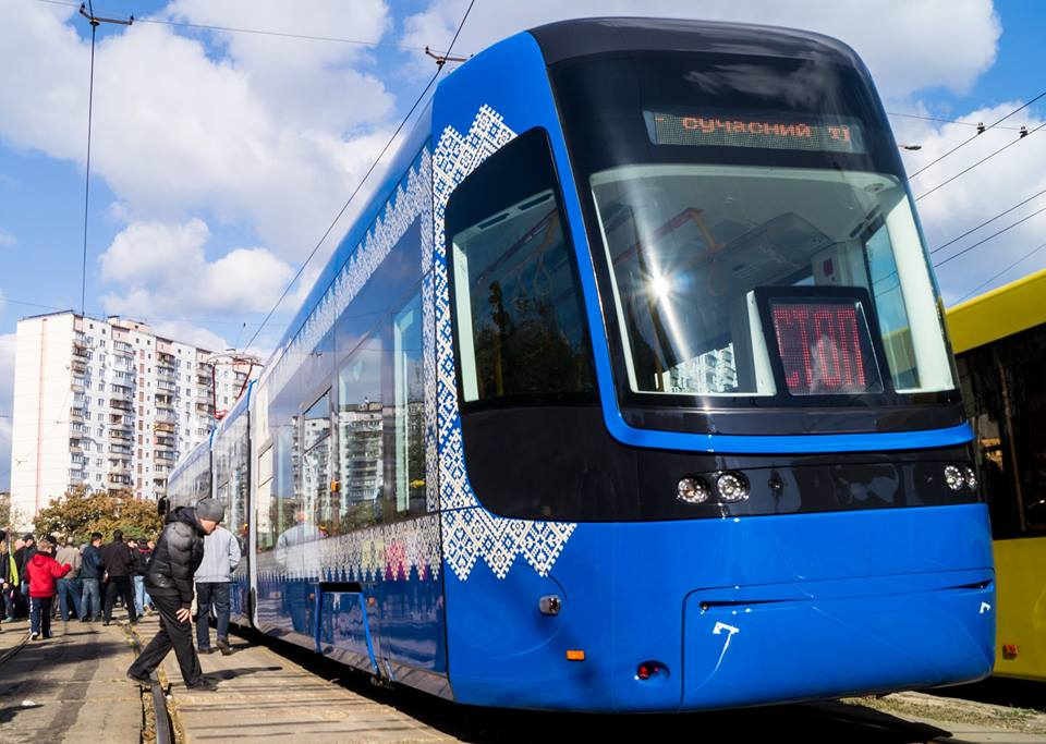В Киеве появился бесшумный трамвай с Wi-Fi и кондиционером: фото