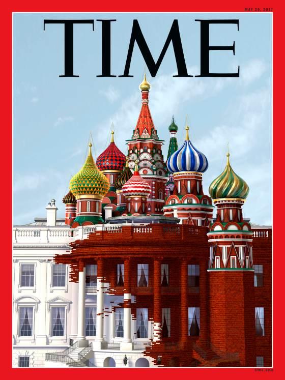 На обложке нового Time Белый дом стал жертвой гибридной войны РФ