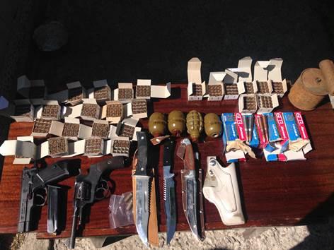 В Броварах СБУ изъяла арсенал оружия из зоны АТО: фото