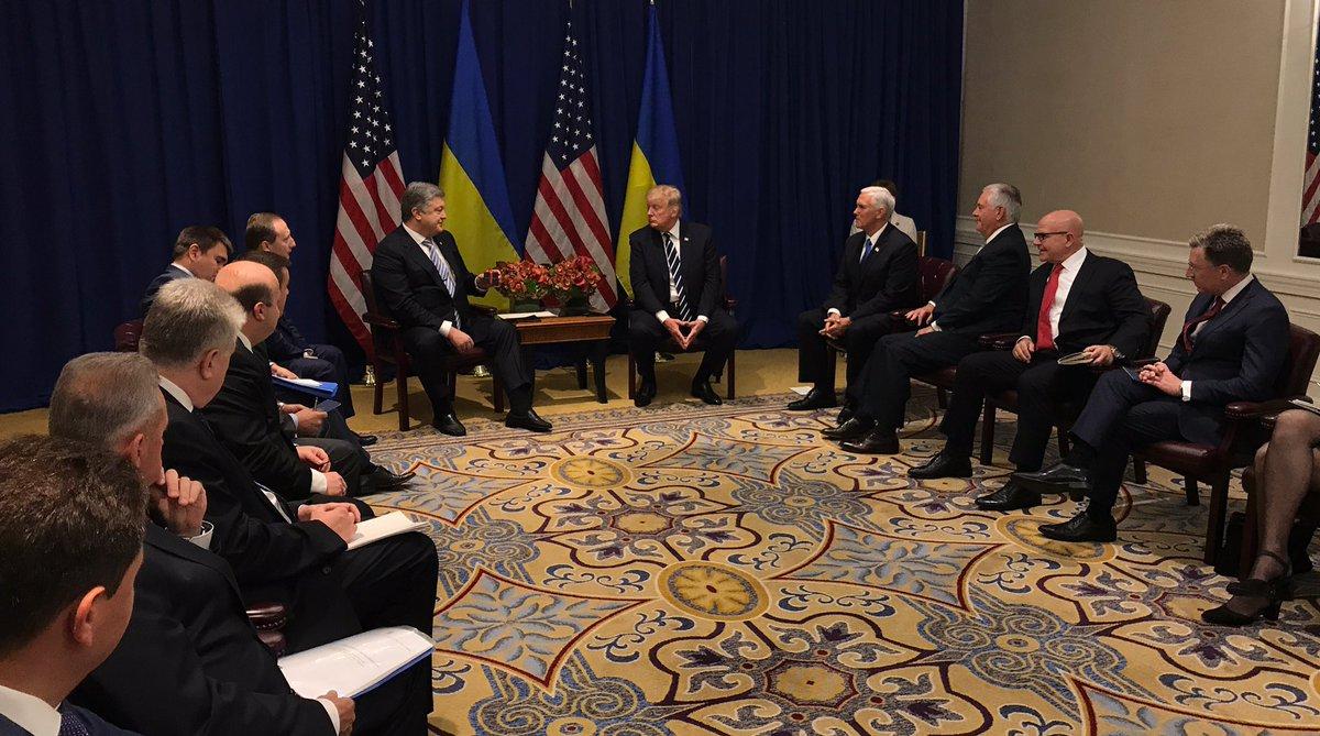 В Нью-Йорке состоялась встреча Порошенко и Трампа: фото, видео