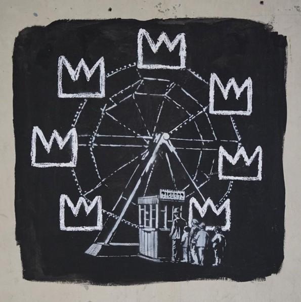 Бэнкси представил две новые работы, приуроченные к Жан-Мишелю Баскии