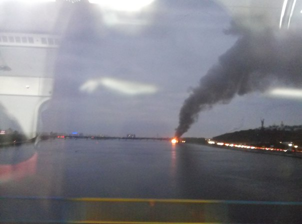 В Киеве произошел пожар в ресторане Веранда: фото