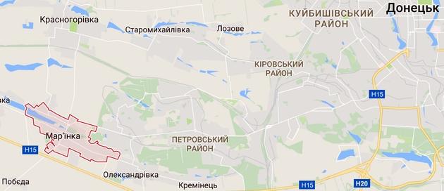 В Марьинке боевики гибридной армии обстреляли школу: фото