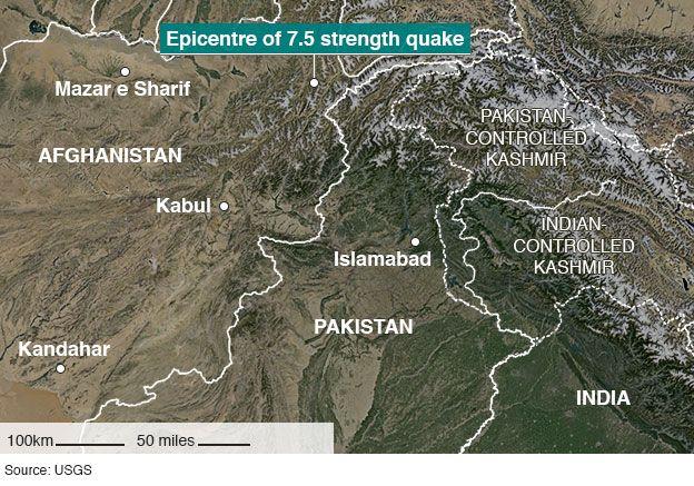 Афганистан, Индия и Пакистан пострадали от мощного землетрясения