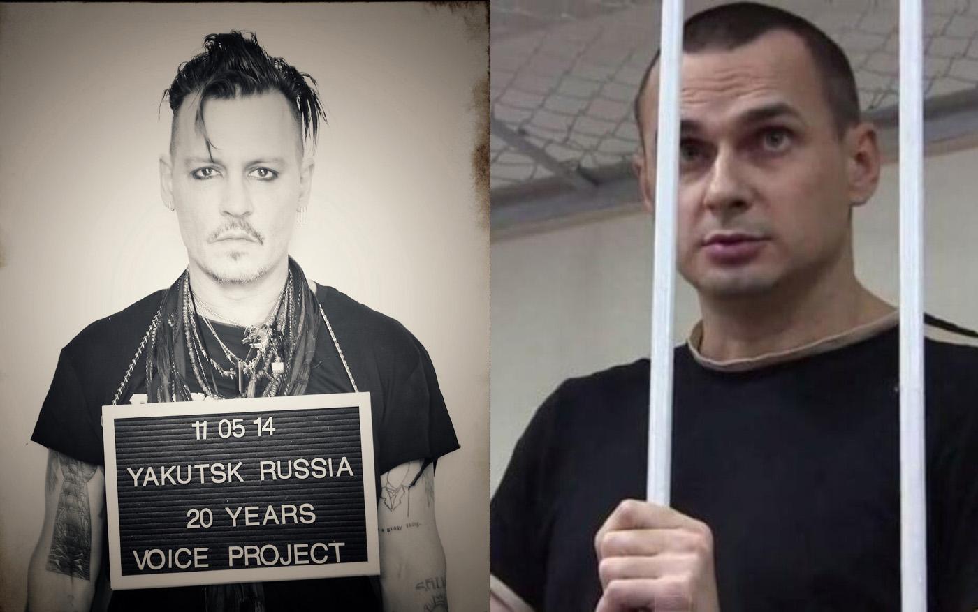 Джонни Депп выступил в поддержку политзаключенного Олега Сенцова
