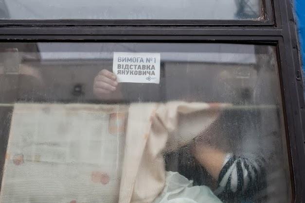 В интернет попало видео с бунтом антимайдановцев в поезде