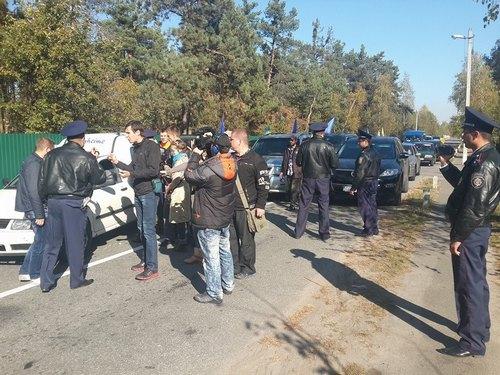 Автомайдан приехал в гости к Порошенко