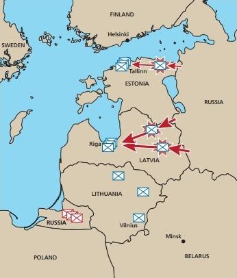Военное моделирование: НАТО проиграет, если РФ атакует Прибалтику