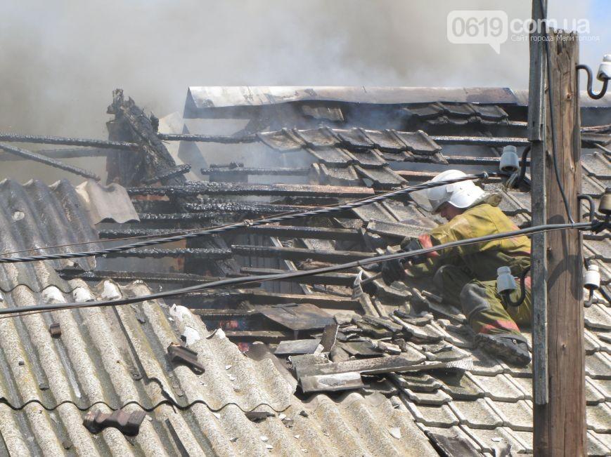 Серьезный пожар вМелитополе: горит  цех скрасками имаслами